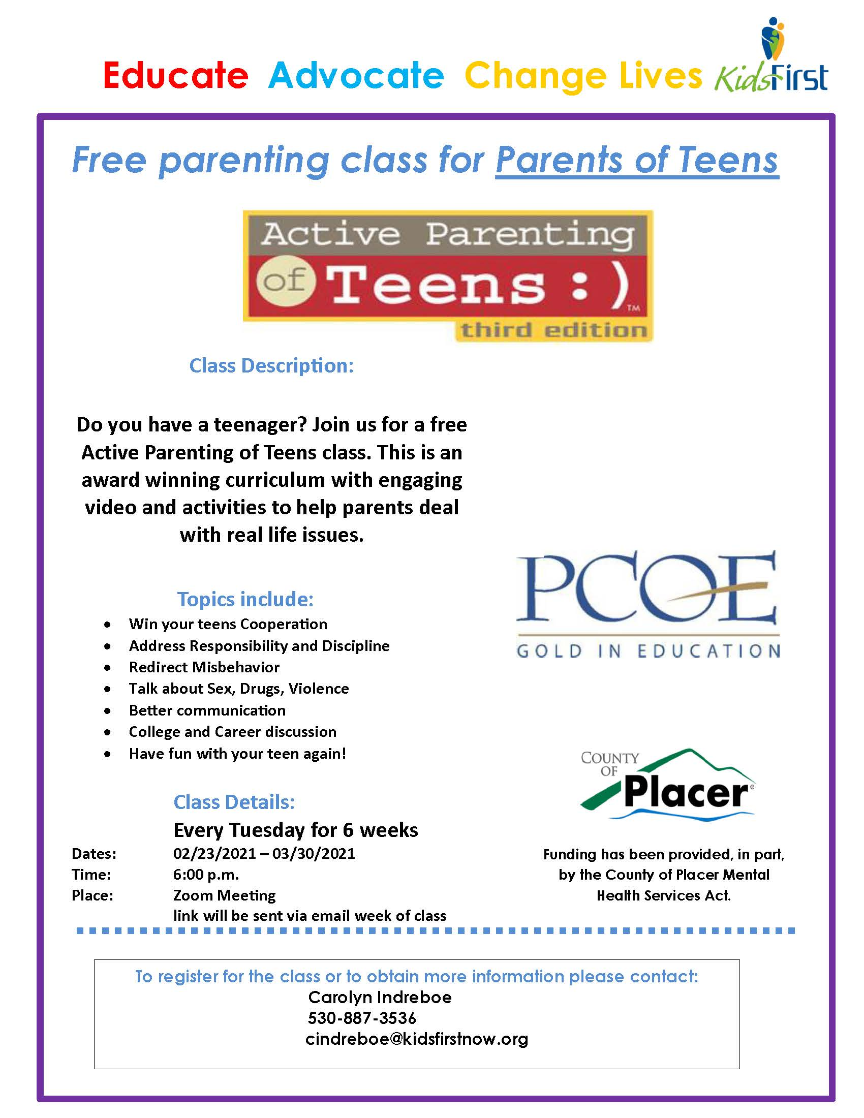 Active Parenting of Teens Feb 2021